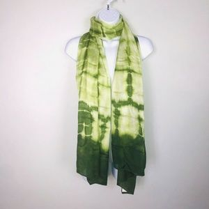 Scarf Big Over Sized Green Tie Dye Soft Beach MB33